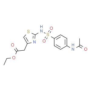2-(4-N-乙酰氨基苯磺酰)氨基噻唑-4-乙酸乙酯