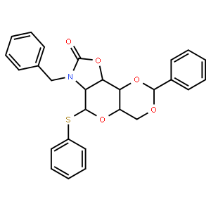 Phenyl N-Benzyl-2-amino-4,6-O-benzylidene-2-N,3-O-carbonyl-2-deoxy-1-thio-beta-D-glucopyranoside  N-苄基-2-氨基-4,6-邻苯亚甲基-2-N,3-邻羰基-2-脱氧-1-硫代-β-D-吡喃葡萄糖苷苯酯