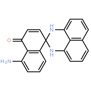 2,3-Dihydro-2-spiro-4'-[8'-aminonaphthalen-1'(4'H)-one]perimidine (contains o-form) 2,3-二氢-2-螺-4'-[8'-氨基萘-1'(4'H)-酮]呸啶(含 o-型)