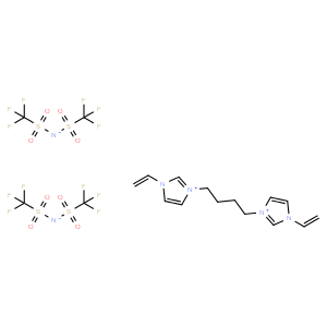 3,3'-(Butane-1,4-diyl)bis(1-vinyl-3-imidazolium) Bis(trifluoromethanesulfonyl)imide  3,3'-(丁烷-1,4-二基)双(1-乙烯基-3-咪唑鎓)双(三氟甲磺酰)亚胺
