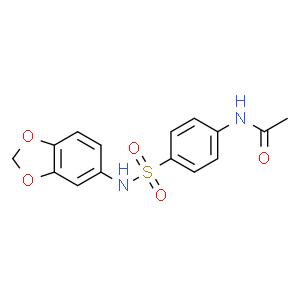 N-(4-N'-乙酰氨基苯磺酰)-3,4-亚甲二氧苯胺