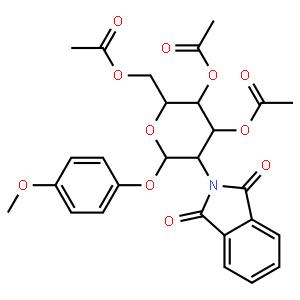 4-Methoxyphenyl 3,4,6-Tri-O-acetyl-2-deoxy-2-phthalimido-beta-D-glucopyranoside  4-甲氧苯基3,4,6-三-O-乙酰-2-脱氧-2-苯二甲酰亚氨基-β-D-吡喃葡萄糖苷