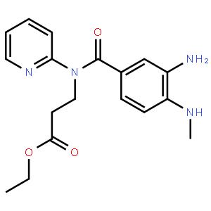 N-[4-甲胺基-3-氨基苯酰基]N-2-吡啶基-b-丙氨酸乙酯