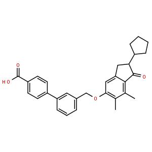 3'-[[(2-环戊基-6,7-二甲基-1-氧代-2,3-二氢-1H-茚-5-基)氧基]甲基]联苯-4-羧酸