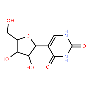 2,4(1H,3H)-Pyrimidinedione,5-b-D-ribofuranosyl-; PTJWIQPHWPFNBW-GBNDHIKLSA-N; C02067; pseudouridine c; beta-pseudouridine; d-ribitol, 1,4-anhydro-1-c-(1,2,3,4-tetrahydro-2,4-dioxo-5-pyrimidinyl)-, (1s)-;