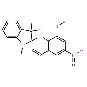 1′,3′-二氢-8-甲氧基-1′,3′,3′-三甲基-6-硝基螺[2H-1-苯并吡喃-2,2′-(2H)-吲哚]
