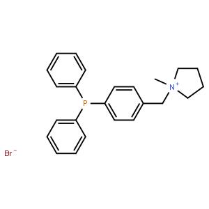 1-甲基-1-[4-(二苯基膦)苄基]吡咯烷鎓溴化物