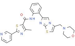 4-甲基-N-[2-[3-(吗啉基甲基)咪唑并[2,1-b]噻唑-6-基]苯基]-2-(吡啶-3-基)噻唑-5-甲酰胺