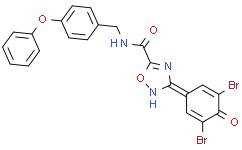 3-(3,5-二溴-4-羟基苯基)-N-[(4-苯氧基苯基)甲基]-1,2,4-恶二唑-5-甲酰胺