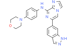 6-(1H-吲唑-6-基)-N-[4-(4-吗啉基)苯基]咪唑并[1,2-a]吡嗪-8-胺