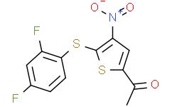 1-[5-[(2,4-二氟苯基)硫基]-4-硝基-2-噻吩基]乙酮