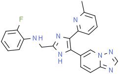 N-[[4-([1,2,4]三唑并[1,5-a]吡啶-6-基)-5-(6-甲基吡啶-2-基)-1H-咪唑-2-基]甲基]-2-氟苯胺