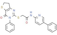 N-(5-苯基-2-吡啶基)-2-[(3,4,6,7-四氢-4-氧代-3-苯基噻吩并[3,2-d]嘧啶-2-基)硫基]乙酰胺