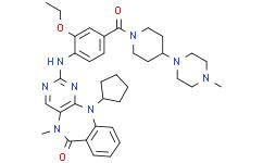 11-环戊基-2-[[2-乙氧基-4-[[4-(4-甲基-1-哌嗪基)-1-哌啶基]羰基]苯基]氨基]-5,11-二氢-5-甲基-6H-嘧啶并[4,5-B][1,4]苯并二氮杂卓-6-酮