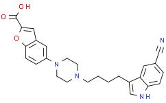 5-(4-(4-(5-氰基-1H-吲哚-3-基)丁基)哌嗪-1-基)苯并呋喃-2-羧酸