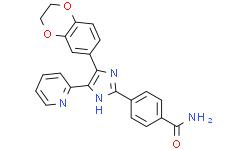 4-[4-(2,3-二氢-1,4-苯并二氧杂环己-6-基)-5-(2-吡啶基)-1H-咪唑-2-基]苯甲酰胺