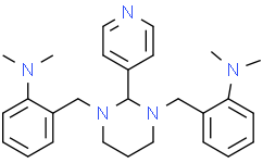 2,2'-[[二氢-2-(4-吡啶基)-1,3(2H,4H)-嘧啶二基]二(亚甲基)]二[N,N-二甲基苯胺]