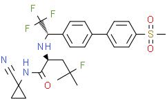 奥当卡替 【(2S)-N-(1-氰基环丙基)-4-氟-4-甲基-2-[[(1S)-2,2,2-三氟-1-[4'-(甲基磺酰基)[1,1'-联苯]-4-基]乙基]氨基]戊酰胺】