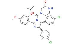 4-[[(4S,5R)-4,5-双(4-氯苯基)-4,5-二氢-2-[4-甲氧基-2-(1-甲基乙氧基)苯基]-1H-咪唑-1-YL]羰基]-2-哌嗪酮