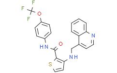 3-[(4-喹啉甲基)氨基]-N-[4-(三氟甲氧基)苯基]-2-噻吩甲酰胺