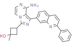 顺式-3-[8-氨基-1-(2-苯基-7-喹啉基)咪唑并[1,5-A]吡嗪-3-基]-1-甲基环丁醇