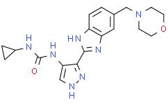 1-环丙基-3-(3-(5-(吗啉甲基)-1H-苯并[d]咪唑-2-基)-1H-吡唑-4-基)脲